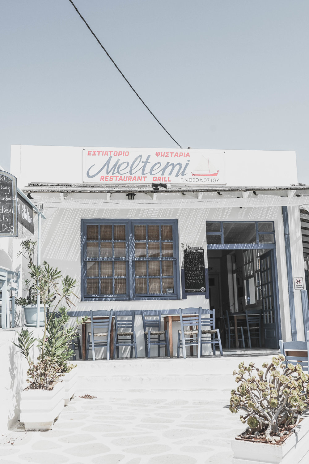 One of my favorite things about Folegandros was the hand-painted signs. Every restaurant and shop seemed to have one.