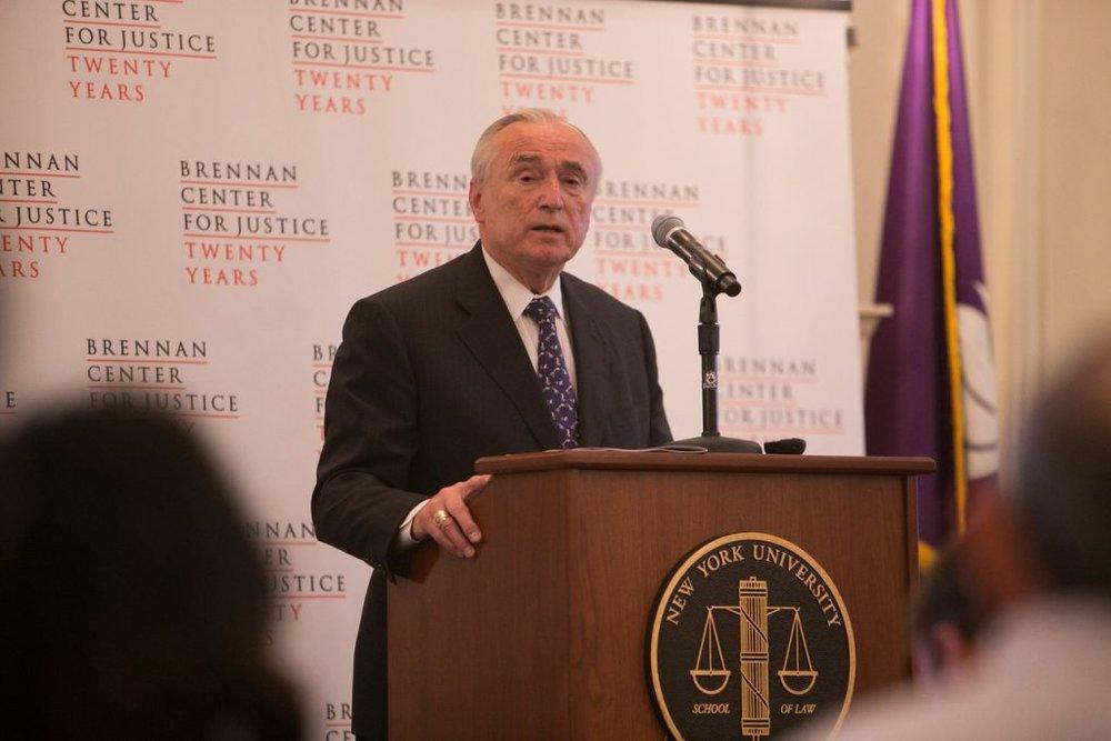 Commissioner Bratton, © NYU Photo Bureau: Hollenshead