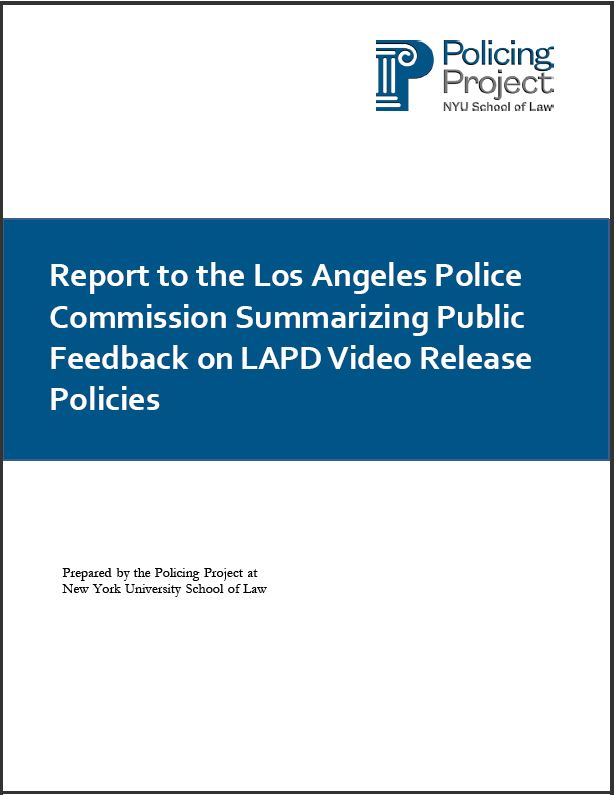 Click here to read the LAPD Video Release Policy Report