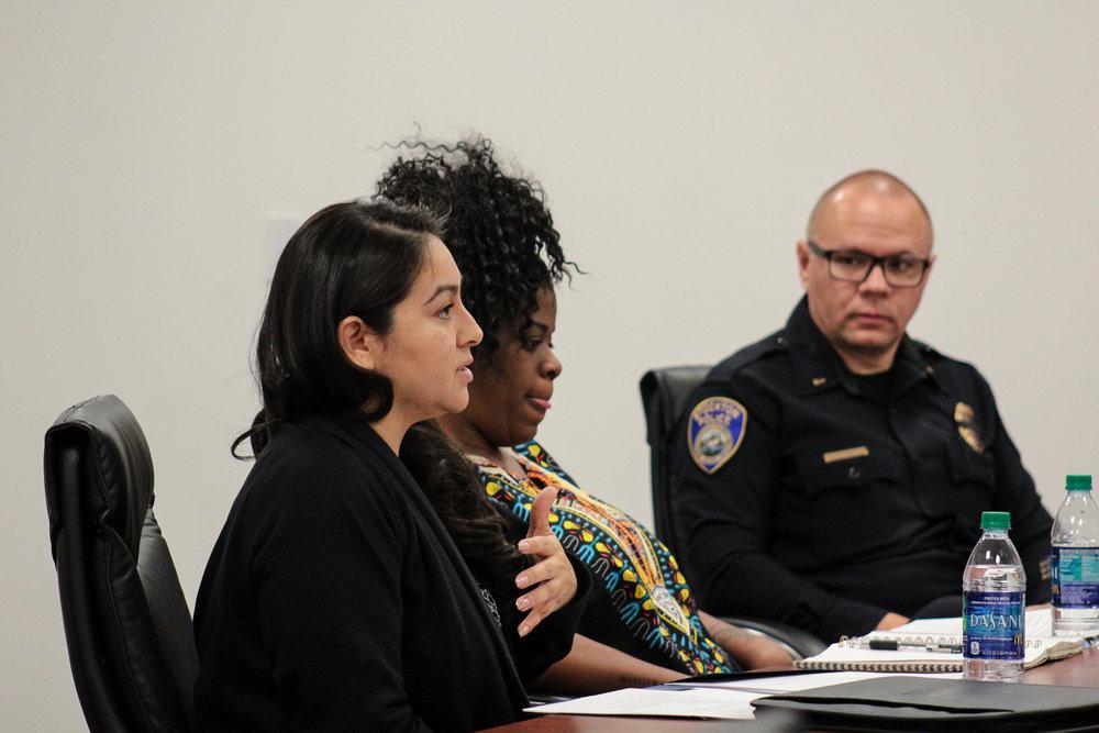 Felicia Estrada, Tashante McCoy, and SPD Lt. Eric Kane