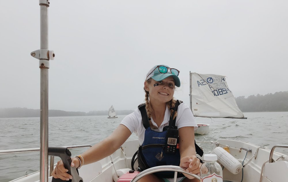 Ashley Arruda - Advanced Training Group CoachHi, my name is Ashley Arruda and I will be attending Northeastern University as a Mechanical Engineer major this upcoming fall! I've been sailing since I was eight years old in the HYC program, from a Recruit to a 420 Racer! I also competitively sailed on Yarmouth high school's sailing team. This summer will be my third year as an instructor in the Harraseeket Youth Sailing Program! I am ecstatic to be the ATG coach this summer, as I am eager to share my racing knowledge with up and coming, young ambitious sailors! I'm so excited for HYC's 2019 summer sailing program to start! :)
