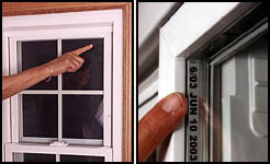 Most Wallside Windows have an ID number that will help us know the window's measurements and specifications.