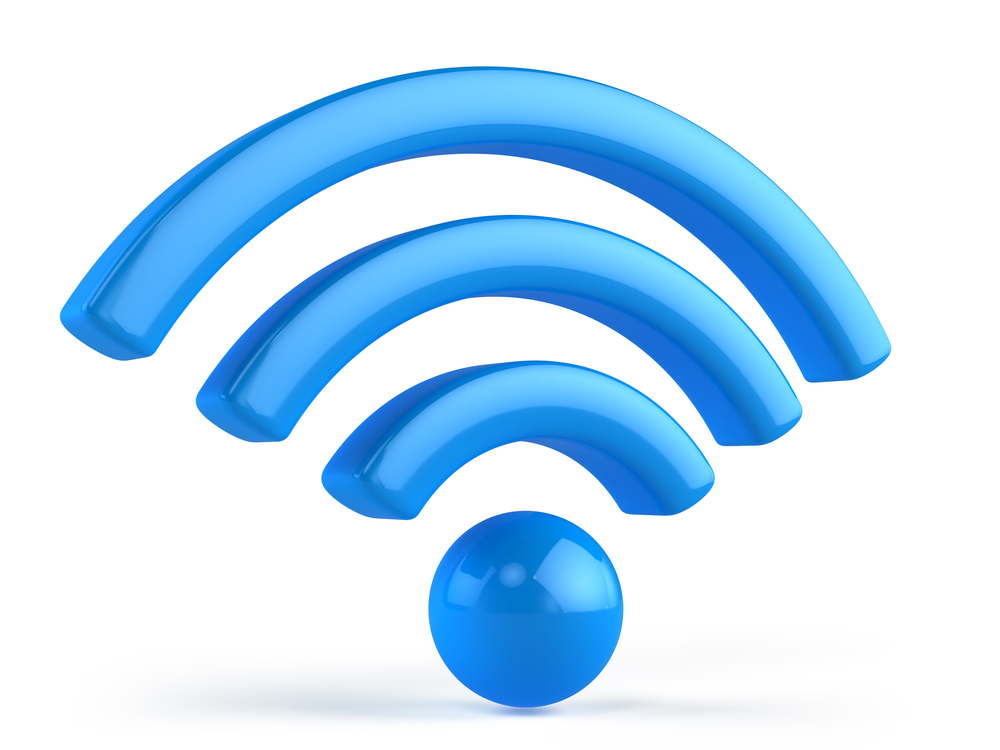 Light blue wi-fi icon.