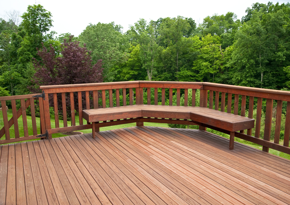 Good looking deck over looking trees