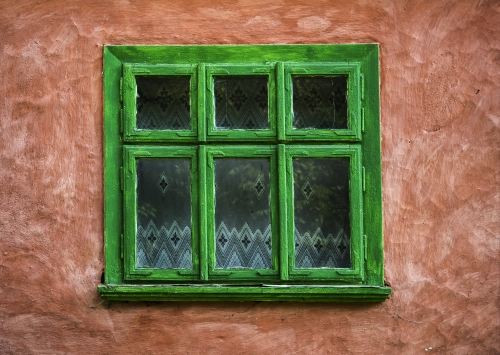 Painted Window Frame