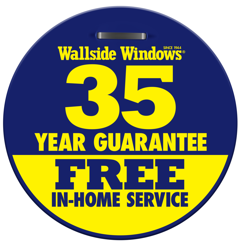 The Wallside Windows 35 Year Guarantee includes free in home service