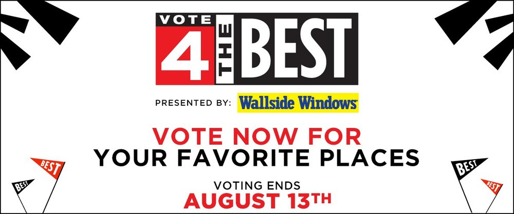 Time to Vote 4 the Best is running out. Support local businesses today.