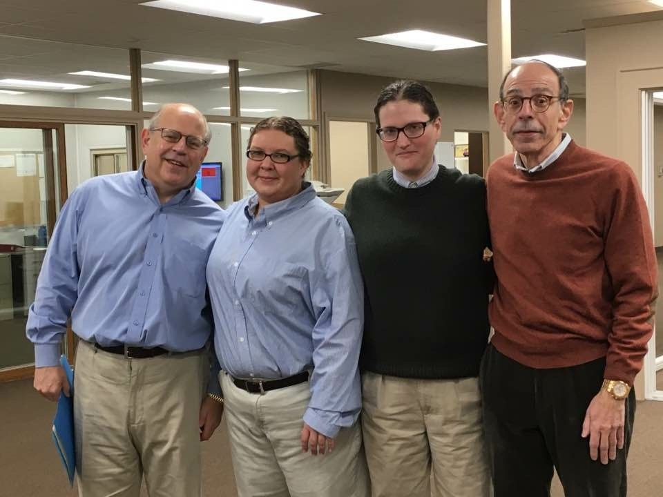 """Just us Blancks"" was a hit during last year's Halloween Costume Contest at Wallside. Left to Right are Stanford Blanck, Angie Laesser dressed as Stanford, Callie Harpe dessed as Stuart, Stuart Blanck."