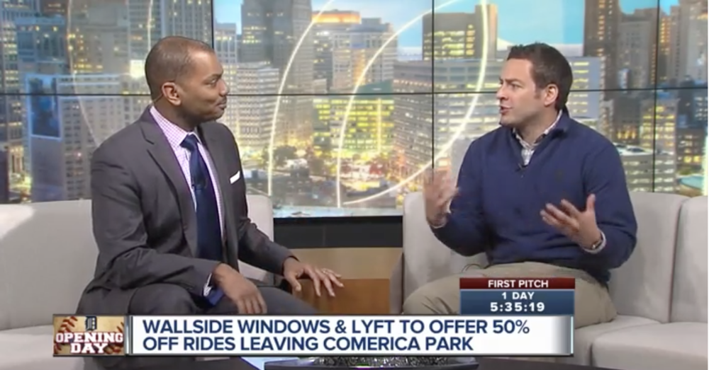 Wallside Windows spoke to WXYZ-TV's Keenan Smith about our Safe Ride with Wallside program for Opening Day.