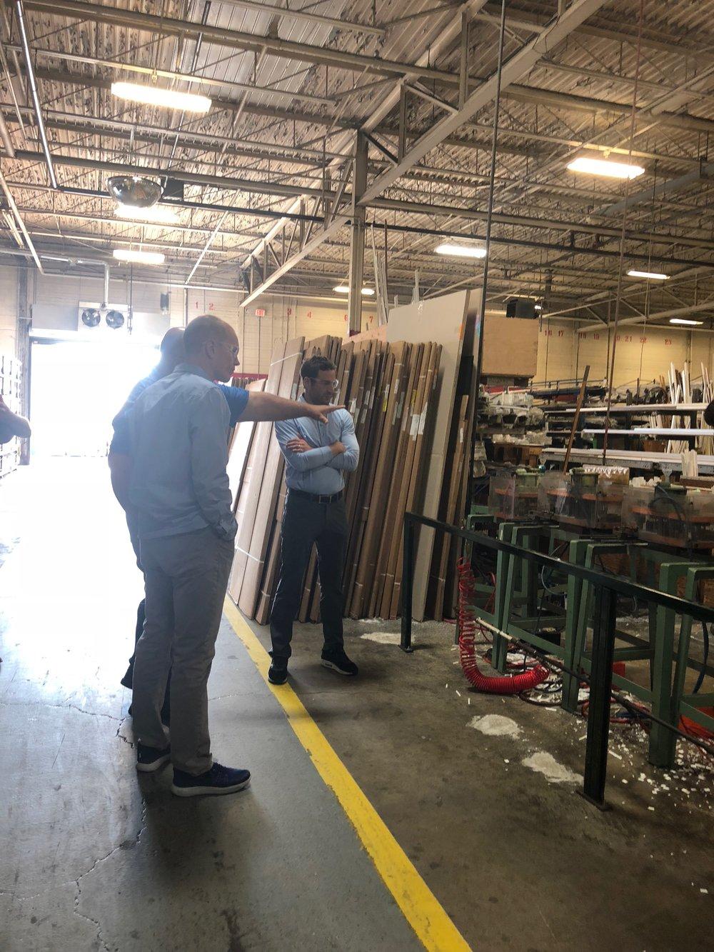 Jason Hanson, former Detroit Lion, toured the Wallside Windows Factory.