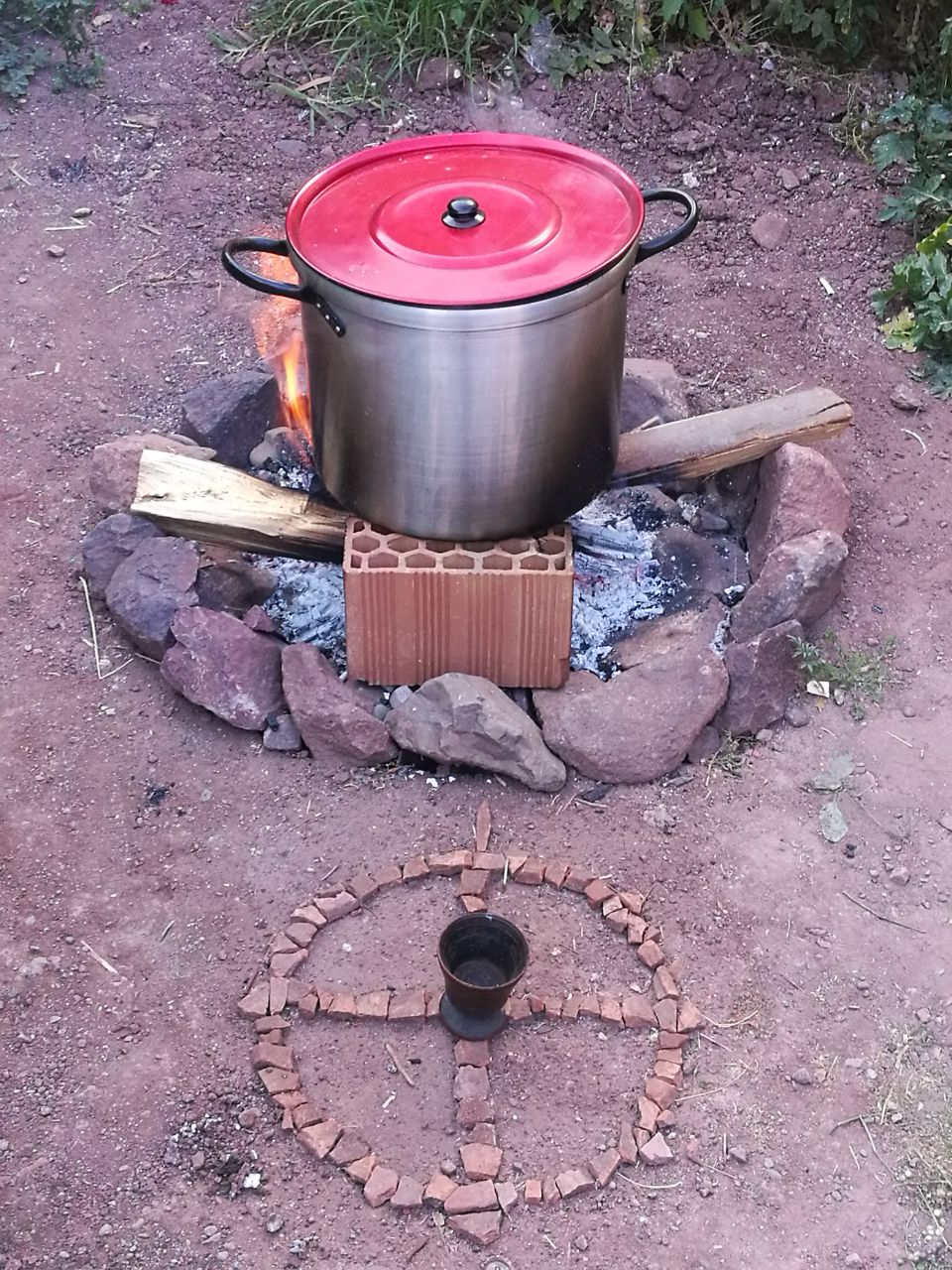 Cooking Huachuma