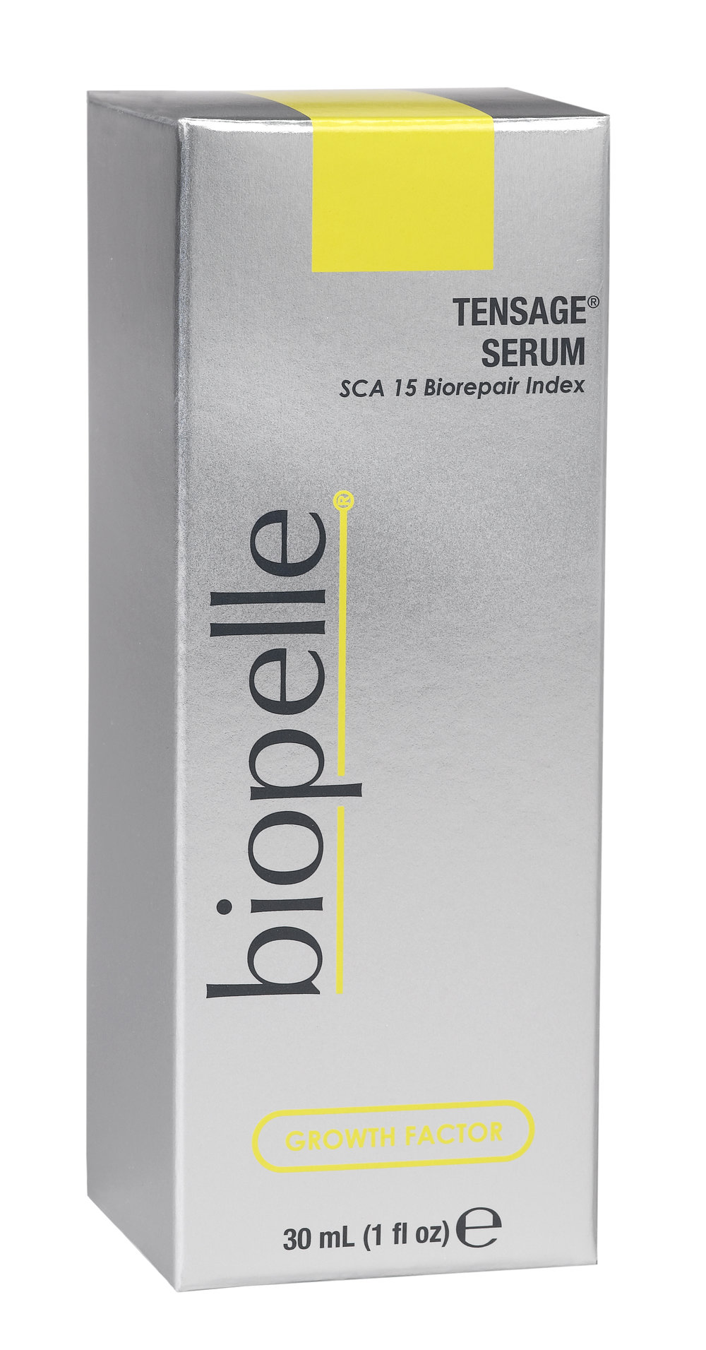 Biopelle  Tensage Serum   Growth factors help repair skin damage and restore elasticity, tone, and texture!