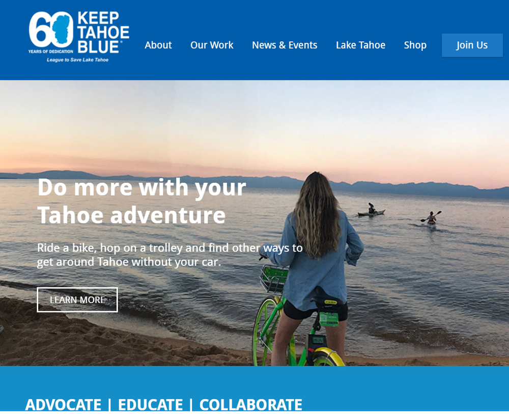 LimeBike is part of Keep Tahoe Blue's recommended transportation solutions for Lake Tahoe