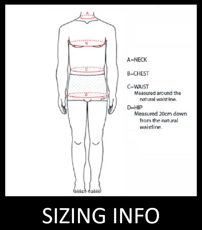 Gear Sizing Info