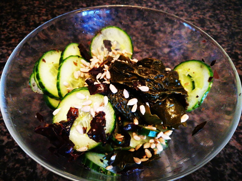Cucumber and Seaweed.......my 2 favorite and under rated vegetable super stars.