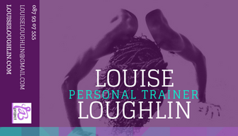 Personal Trainer Fitness Purple Business Card.png