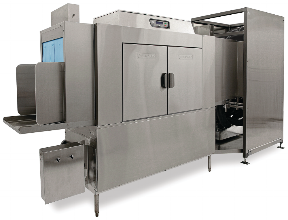 Industrial - Manufacturing environments today require highly efficient sanitation processes so they can focus on greater productivity for the business. With many types of material handling products needing to be washed, at all different shapes and sizes, it's become even more important to meet these demands with automated washing solutions. Hobart's industrial washers deliver the sanitation you require, all while conserving energy and saving your operation money.If you're looking for a flexible, multi-purpose washer, the CL64T Tote Washer is the perfect machine. Desiged to deliver a thorough clean to custom parts, it's ready to tackle your operation's throughput demands.For the busiest of operations, the FT1000i washer can be customized to a variety of material handling products. Engineered to meet the demands of high volume operations, it delivers a powerful wash, with powerful savings.Both the CL64T and FT1000i are customizable and come with options like the high-pressure blow-off and energy recovery systems.
