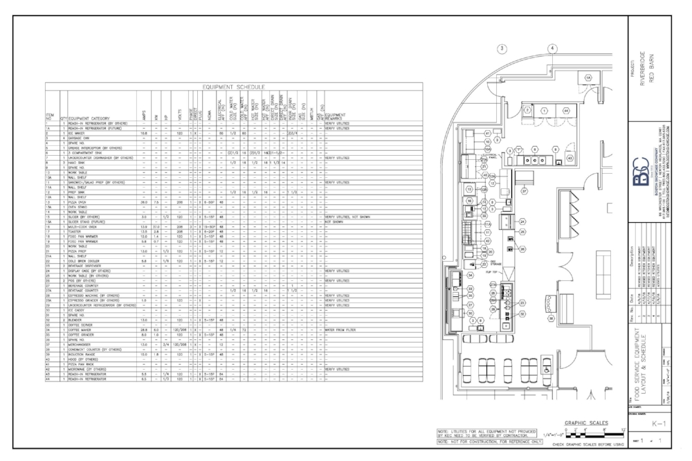 Village Cafe and Pizza - Equipment Layout and Design Project by Boston Showcase Company