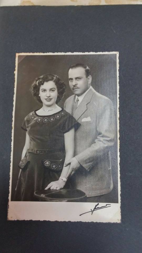 Engagement of Cynthia's grandparents, Naim Shamash and Layla Zakry, in 1952