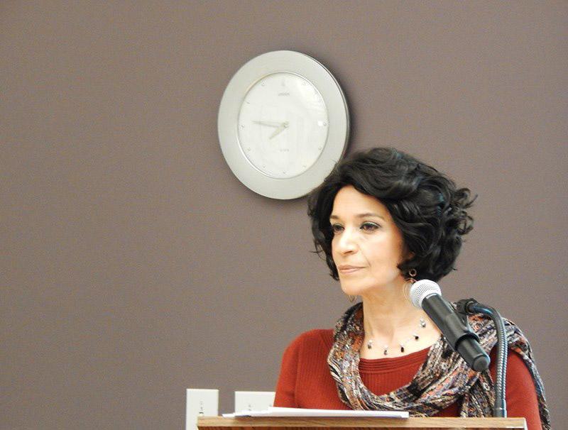 Cynthia speaking at HBI, Brandeis University