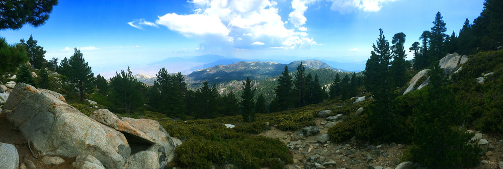A view from the saddle, looking towards Idyllwild