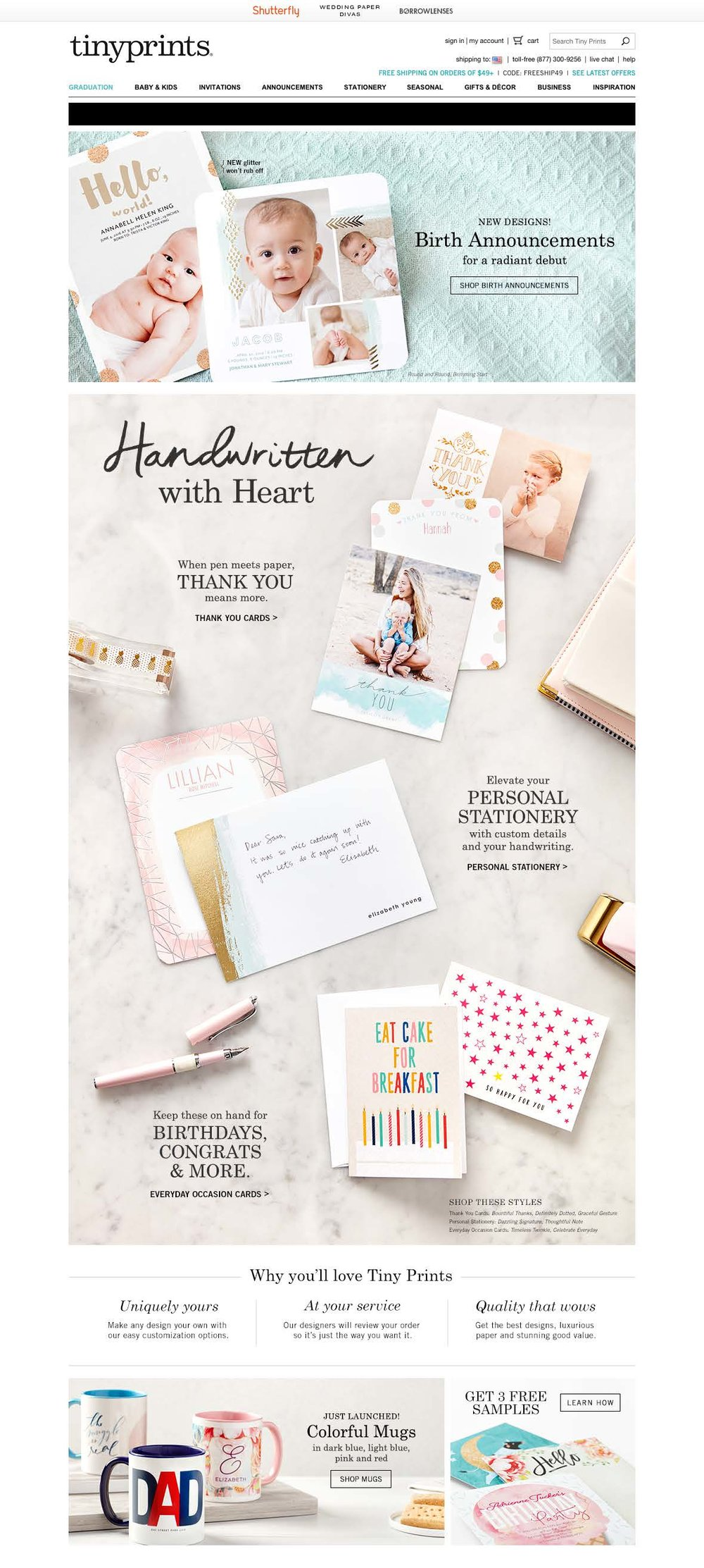 tiny prints website — alice lin