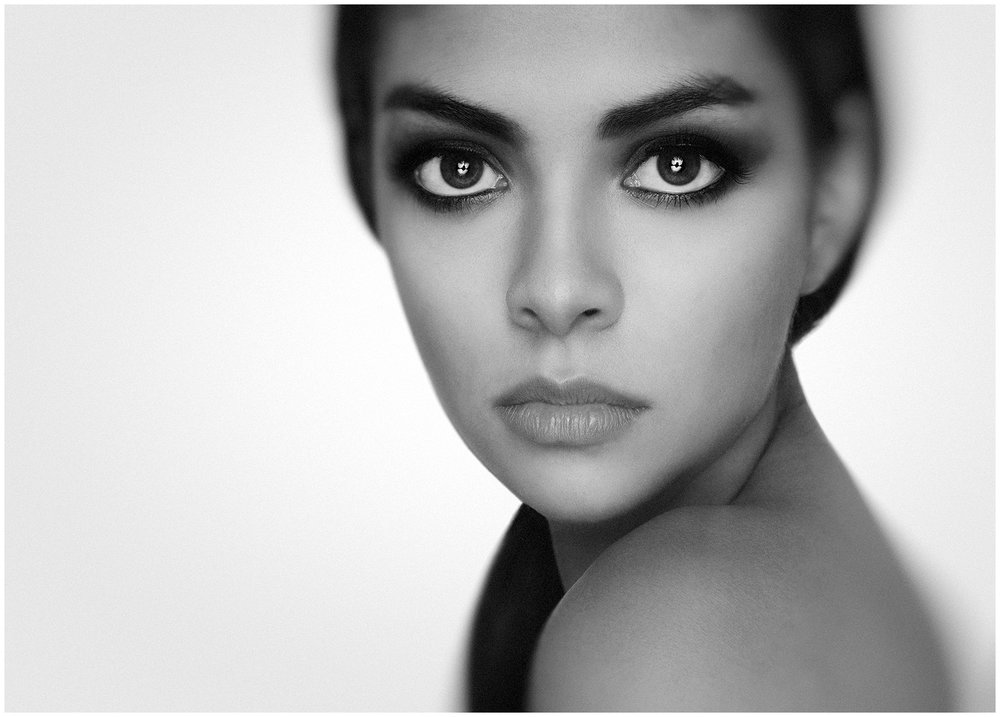 Portrait of Mexican Model Fernanda Paz Ojeda by Richard Cawood