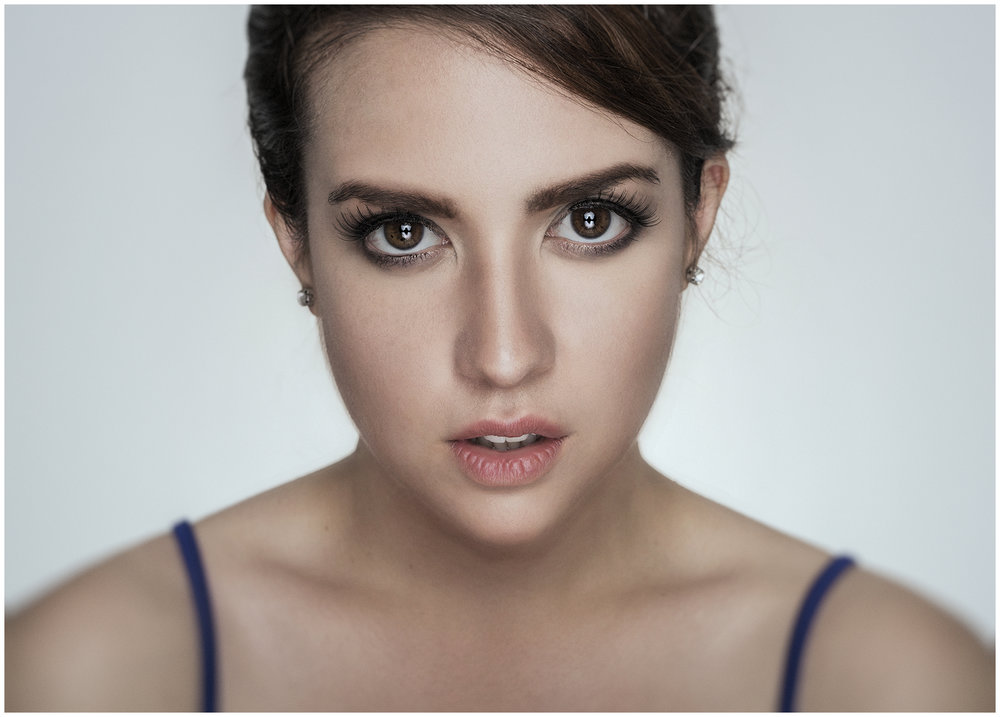 Portrait of Mexican Actress & Singer Mafer Millán by Richard Cawood
