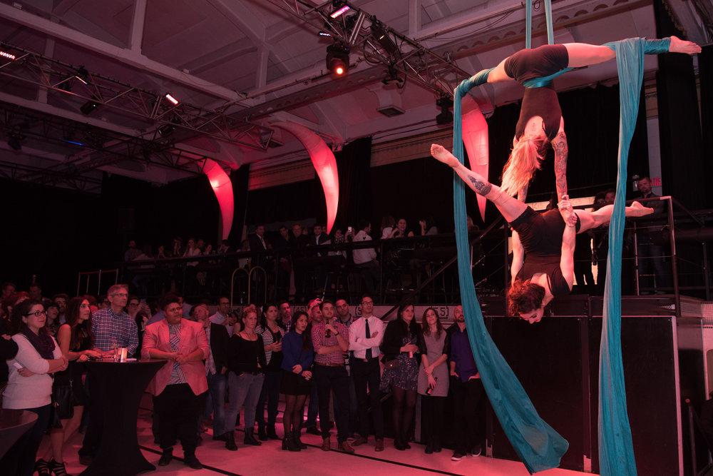Performance aérienne - Duo tissu