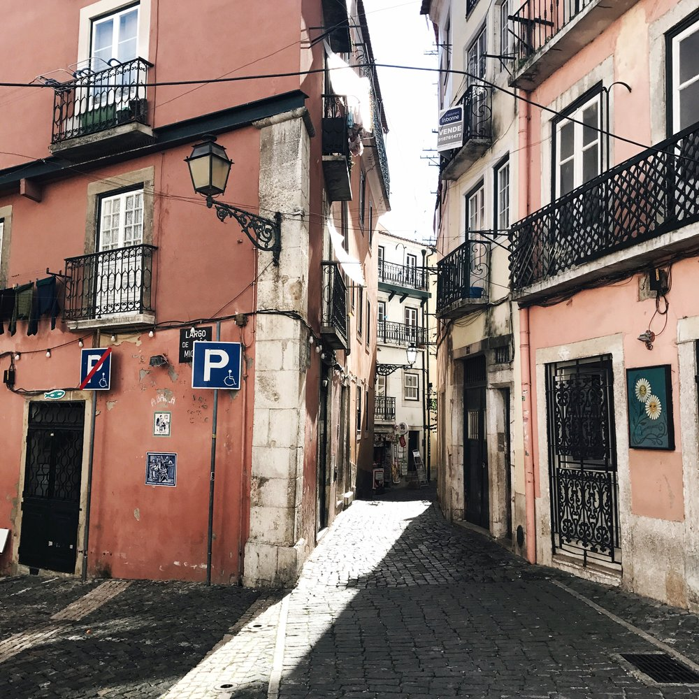Walking through the narrow streets of Alfama