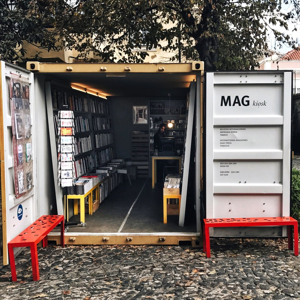 Magazine store in the LX Factory