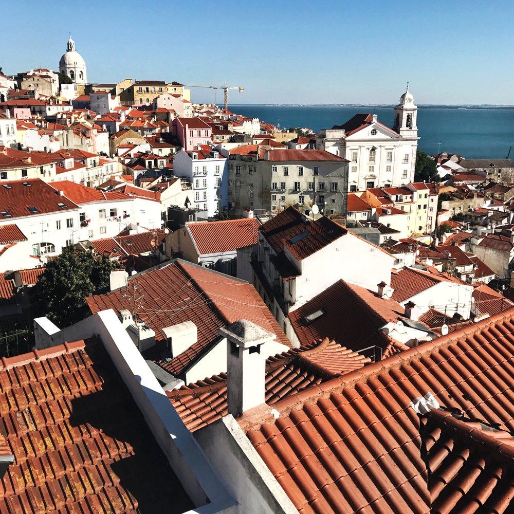 Overlooking Alfama, Lisbon