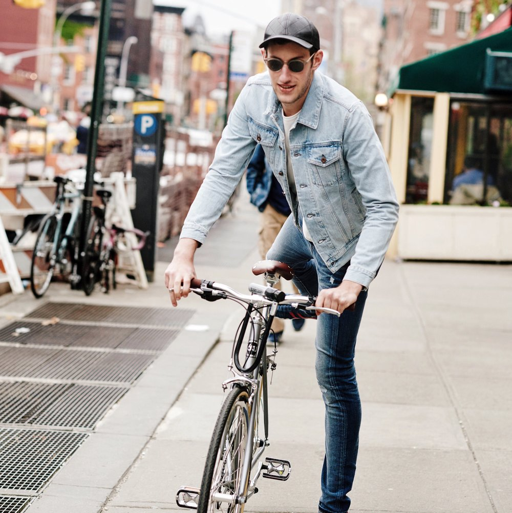 Denim Jacket -  Simon Miller   , Jeans -  Saint Laurent   Location: West Village
