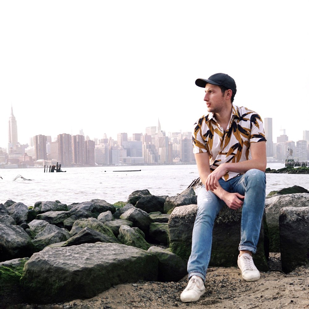 Shirt -  Marni ,  Jeans -  Saint Laurent    Location: Williamsburg Waterfront
