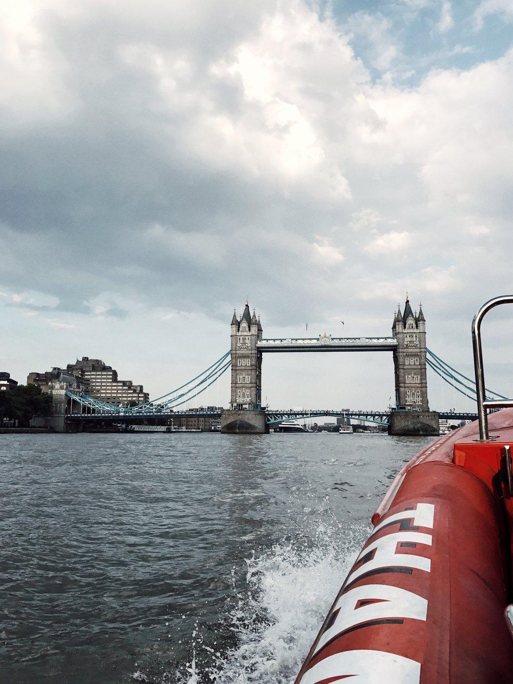 Thames Rocket boat tour! So fun!