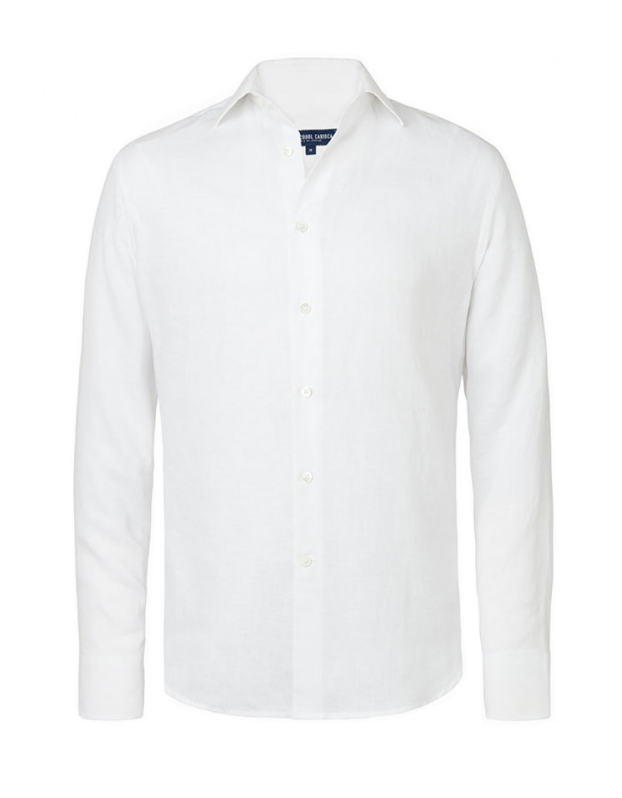 $230 - Frescobol Carioca white linen shirt   I have about 4 linen shirts from Frescobol Carioca! I love them THAT much! Who doesn't need a great white shirt. You can basically pair this with anything.