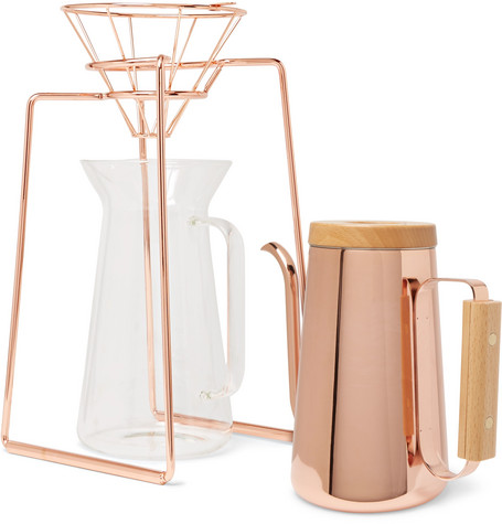 $300 - Copper coffee set   If you love coffee and copper as much as I do, this gift is definitely something special. Especially if your dad is still making coffee with his plastic Folgers filter.