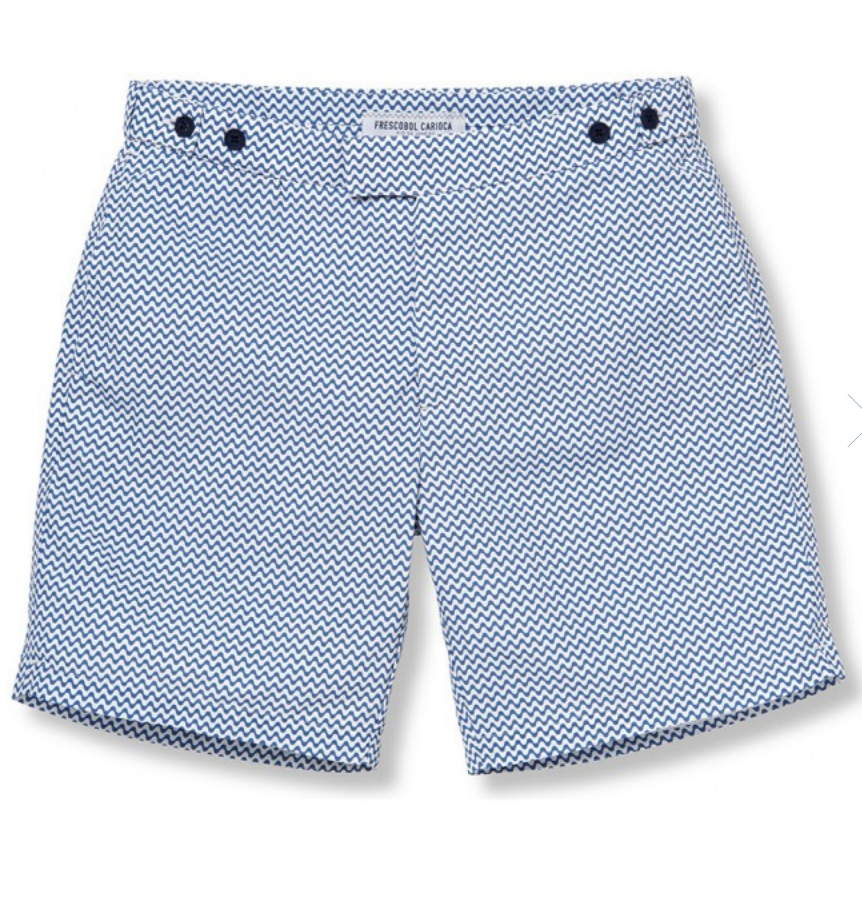 $250 - Frescobol Carioca swim trunks   Frescobol Carioca makes some pretty incredible swim trucks. I love this pattern, fit and color way. Definitely gift to that person that's been wearing the same swim trucks since high school!
