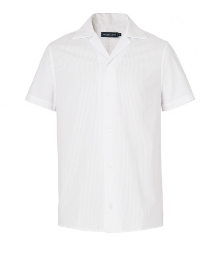 $215 - Frescobol Carioca camp collar shirt   I love camp collars! This is one of my all time favorite shirts in my wardrobe at the moment. The detailing and quality on this shirt is soooooo good. Simple yet sophisticated!