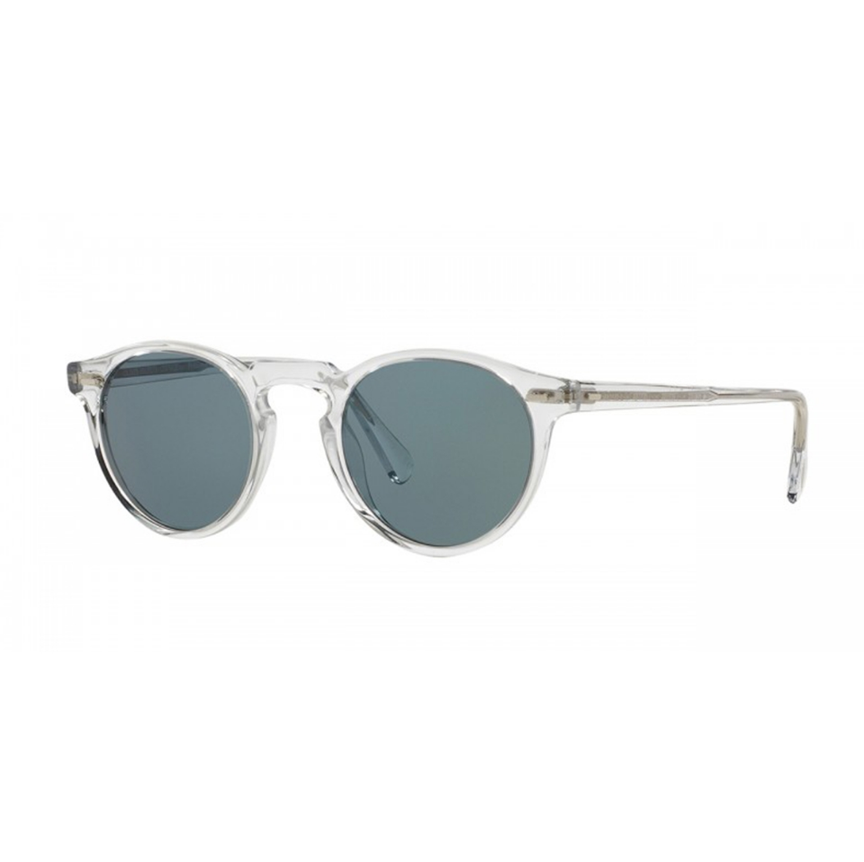 $405 - Oliver Peoples clear Gregory Peck sunglasses   I've never seen someone wear these that doesn't look good in them! I also love clear framed sunglasses. These are one of the most iconic shapes Oliver Peoples makes. I wear mine almost every day and cannot recommend them enough.