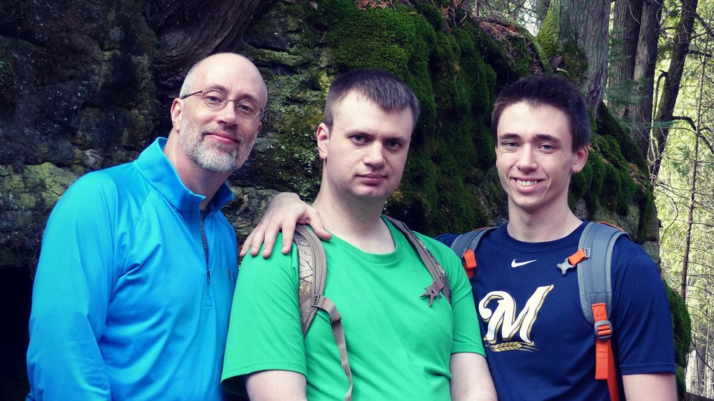 That's me (on the left) along with my sons Andrew and Joel at Newport State Park, March 13, 2016