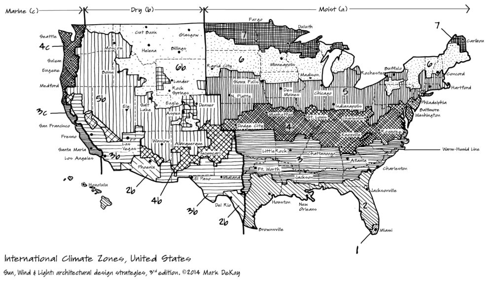 p40 Climate Zones, US