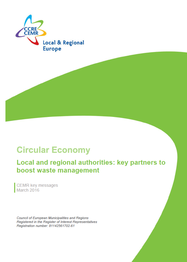 Circular Economy. Local and regional authorities: key partners to boost waste management