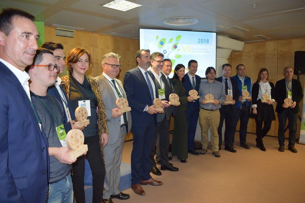 Foto de los representantes de los ayuntamientos galardonados | FEMP. Conama 2018