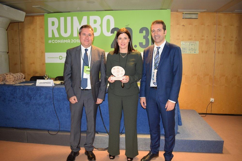 La alcaldesa de Santander, Gema Igual, cuyo consistorio ha sido premiado en la categoría de Movilidad