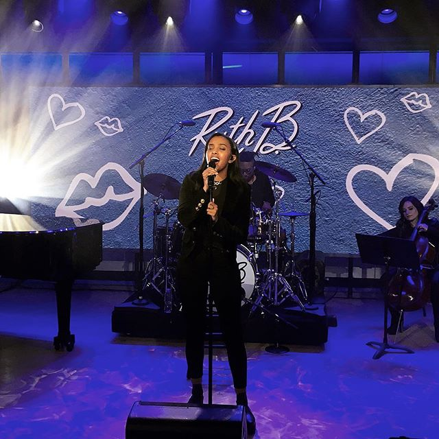 "Had so much fun being back on the today show. First time performing ""if this is love"" was such a rush. Preorder safe haven and get ""if this is love"" now. (Link in bio) ❤️❓"