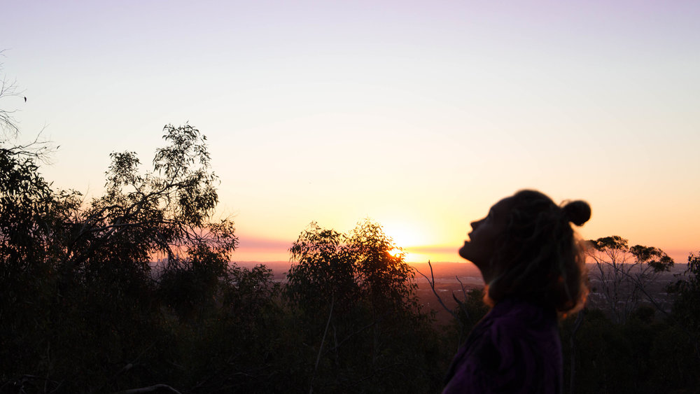 Pondering life at sunset. Hana Photography, Kalamunda Lookout.