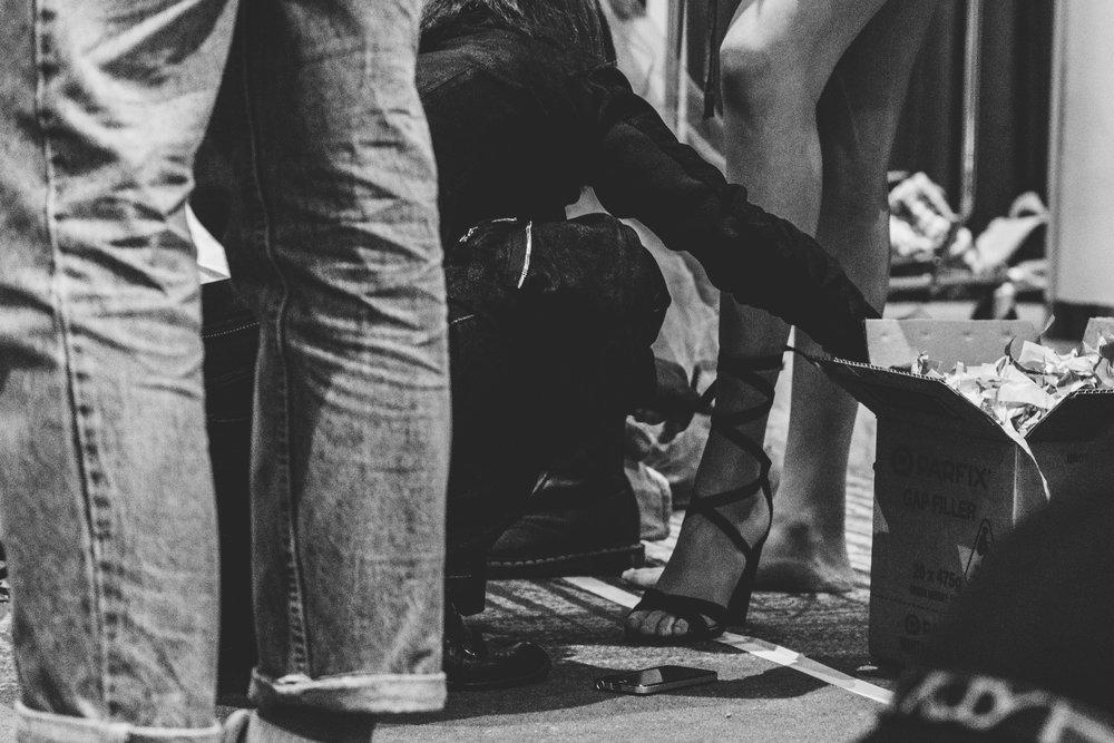Shoe details, sponsored by Betts Shoes. TPFF, Hana Photography, 2017