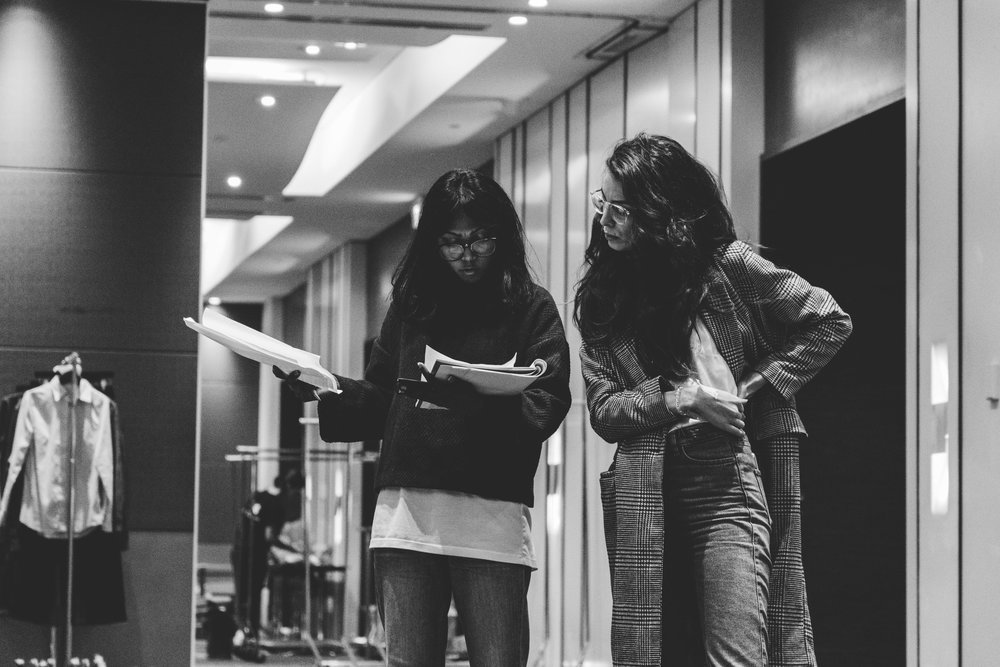 Dhiva and Ivana going through their looks for the Claremont Quarter show. TPFF, Hana Photography, 2017