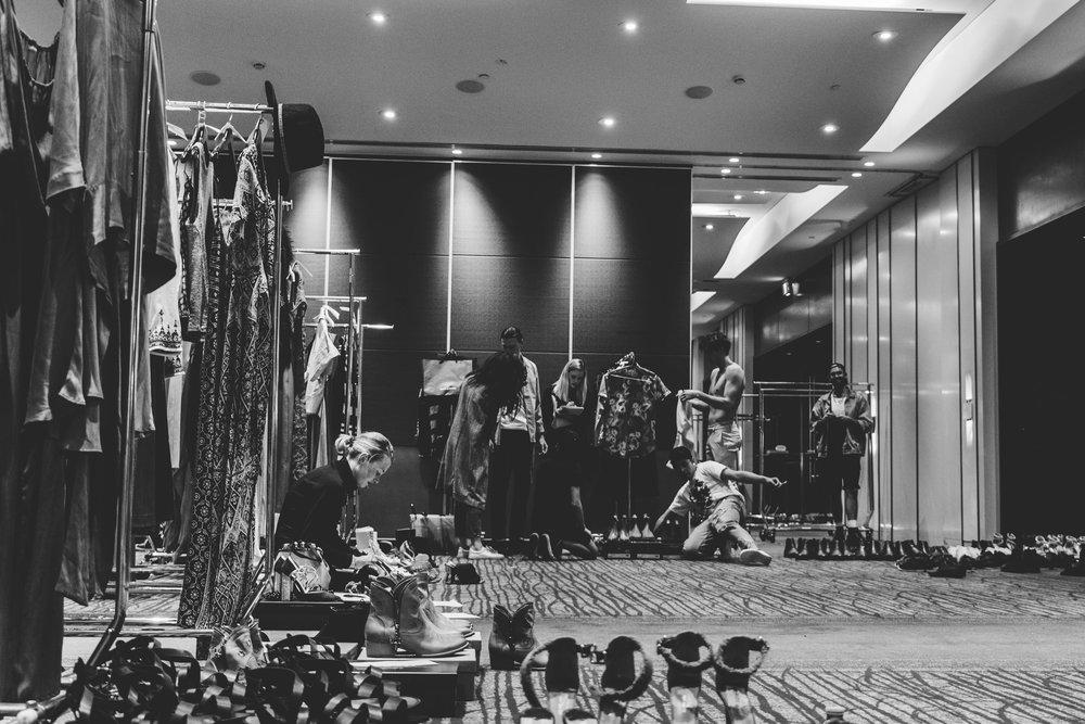 Fittings are a long process.TPFF, Hana Photography, 2017